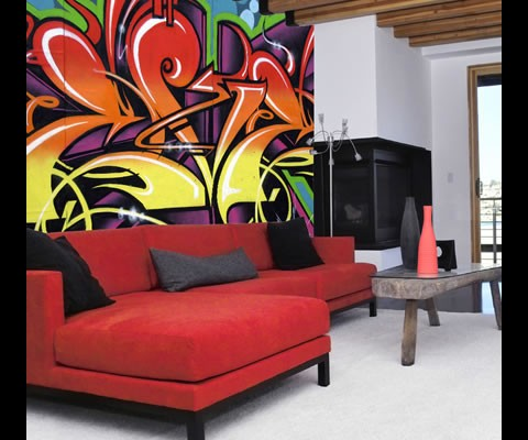 Braxton and yancey graffiti d cor street art in home for Graffiti style bedroom designs