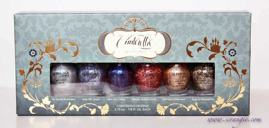 Scrangie: Disney Cinderella Collection by Sephora Holiday 2012 Preview