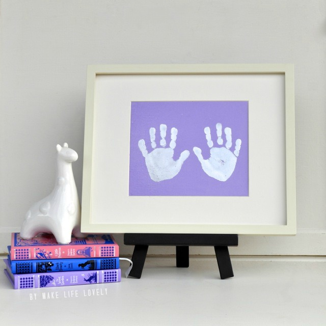 Metallic Hand Prints, adorable!