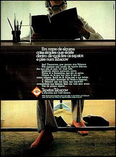 tapetes Tabacow,  1972; os anos 70; propaganda na década de 70; Brazil in the 70s, história anos 70; Oswaldo Hernandez;