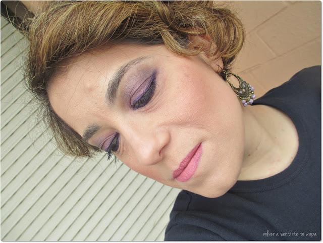 Maquillaje de fiestas low cost en tonos morados