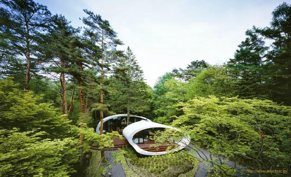 Muschel-Haus von Artechnic - japanische Interpretation vom Wohnen und Leben in der Natur!