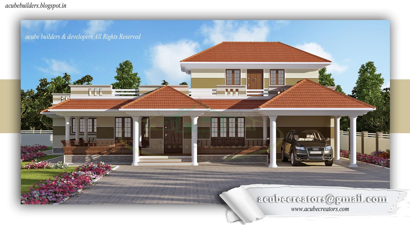 Kerala style villa 3170 plan 155 for Villa plans in kerala style