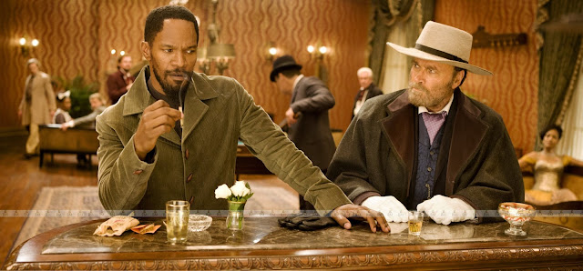Jamie Foxx and Franco Nero (cameo) in Django Unchained