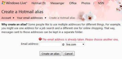 create alias