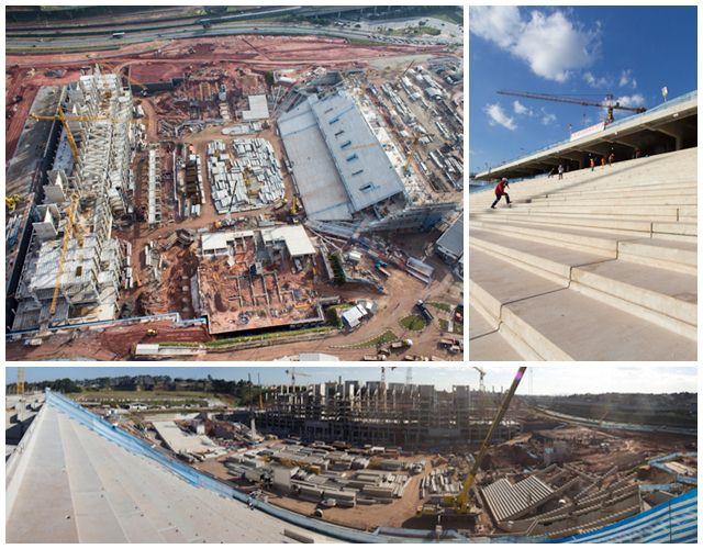Situação das obras da Arena Corinthians em Itaquera no mês de julho de 2012