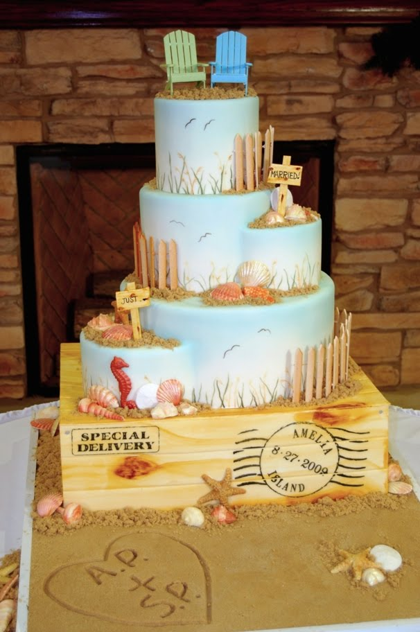 Wedding Cake Toppers Beach Themed Wedding Cake Toppers