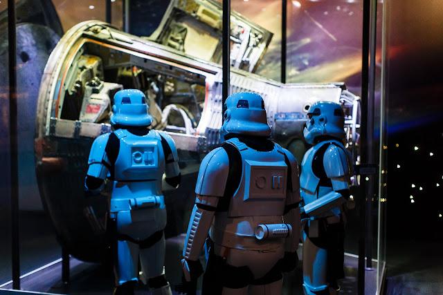 Stormtroopers looking inside a lunar lander