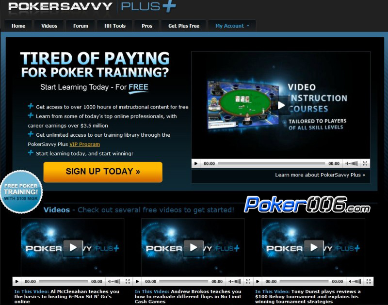 PokerSavvy Free Videos