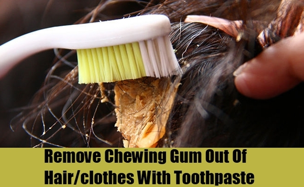 Get rid of chewing gum stuck to the hair