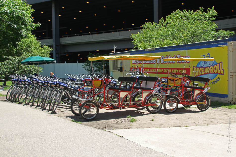 Bike Chicago Navy Pier Bike and Roll rentals