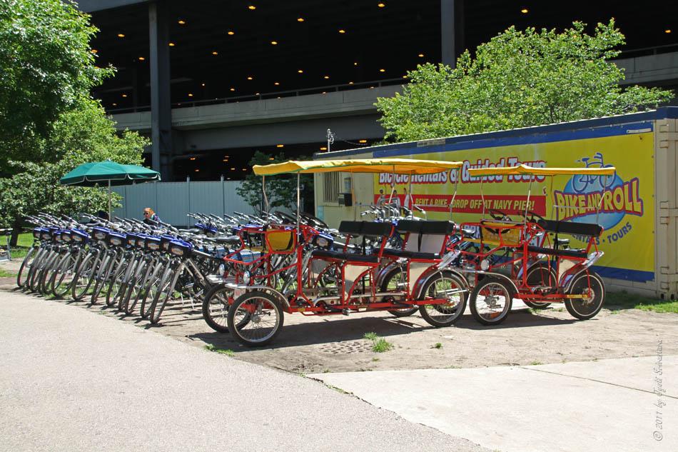 Bike Chicago Navy Pier Bike and Roll rentals
