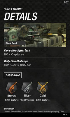 Call of Duty Elite for Windows Phone