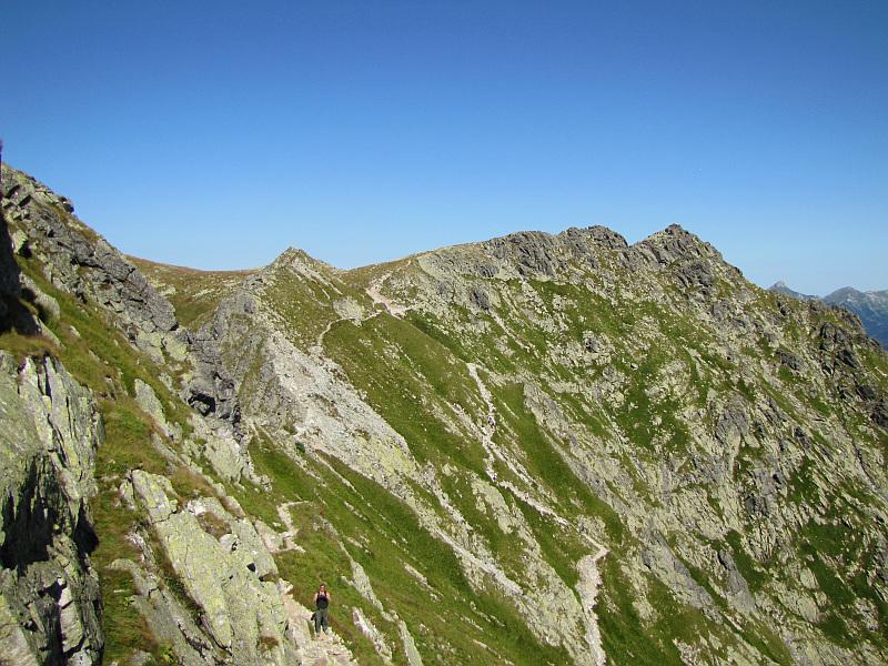 Widok ze stoków Małej Buczynowej Turni w kierunku przełęczy Krzyżne.