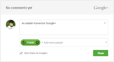 Cara pasang komentar Google+ di Blogger