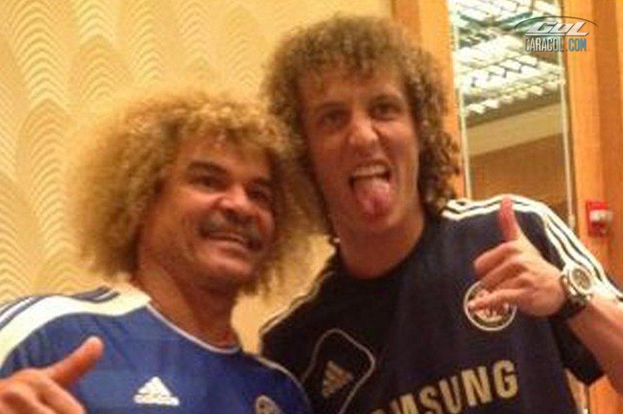 'El Pibe' Valderrama y David Luiz