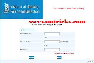 IBPS PO/ MT CWE V Admit Card 2015