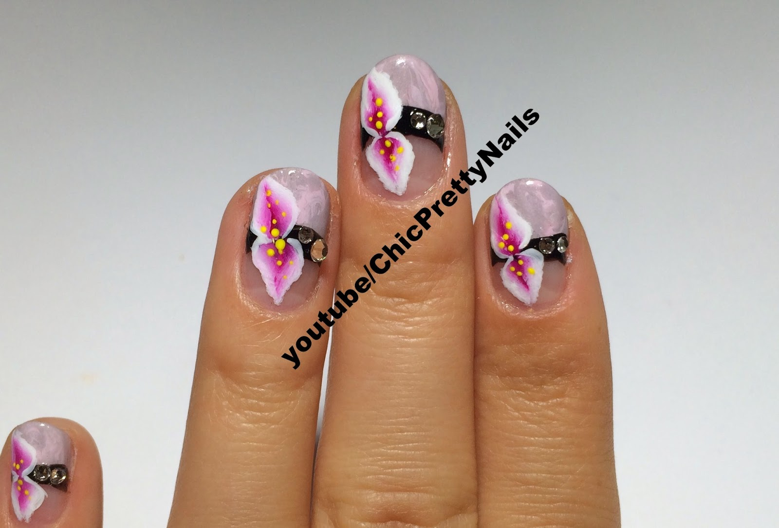 Aoana Nail Art: No Water Marble Nail Art+ One Stroke Flower