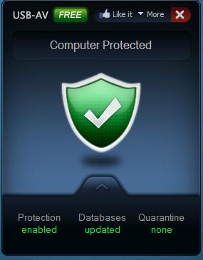 برنامج مجاني للكشف عن والتصدي لجميع التهديدات والفيروسات التي تصيب محركات الاقراص USB-AV Antivirus Free