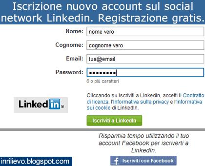 iscrizione linkedin