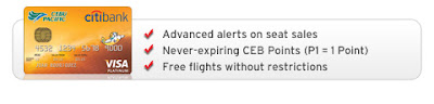 Citibank Cebu Pacific, Free international roundtrip ticket,Free ,promo