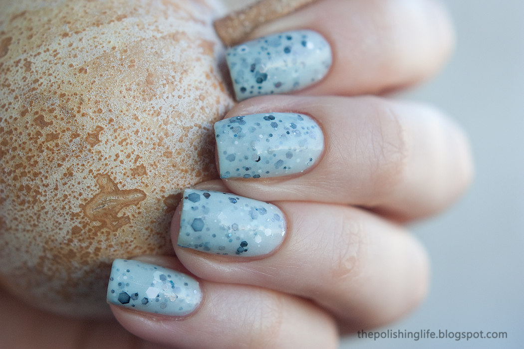 Scofflaw Varnish Rosemary's Baby Blues swatches and review