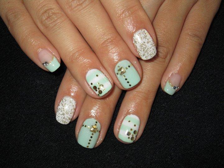 Cute Nail Designs Light Green Summer Mix Nails