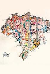 Charge- A superlotação dos presídios no Brasil.