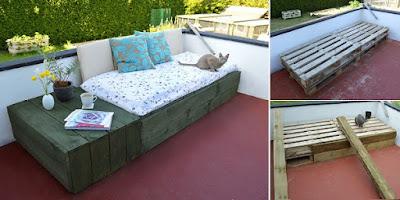 DIY pallet patio day bed