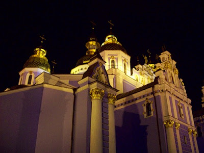 Михайловский собор ночью