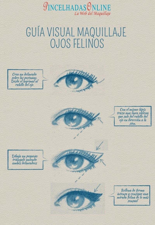 como maquillarse ojos felinos