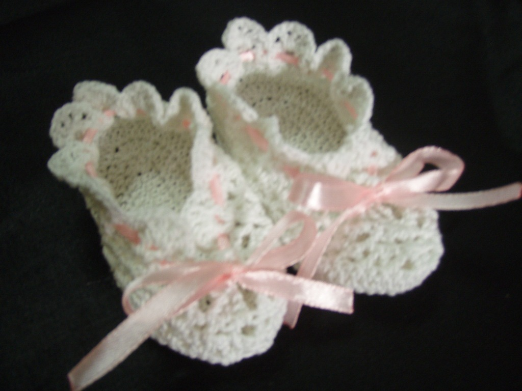 Crochet For Baby : Crochet Pattern for Baby Booties