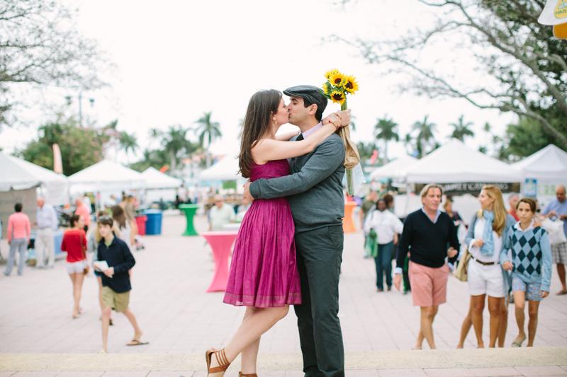 west palm beach green market engagement photos