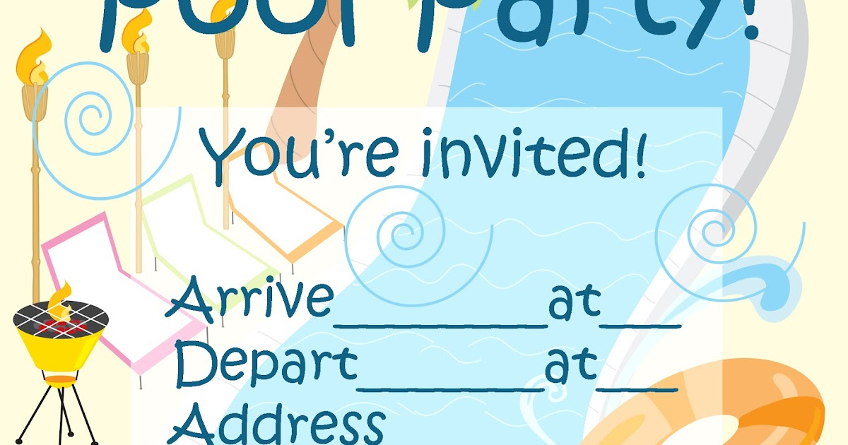 Invitations For Sleepover Party Sleepover Pool Party