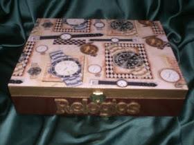 Caixa de Relógios Cast/Dourado