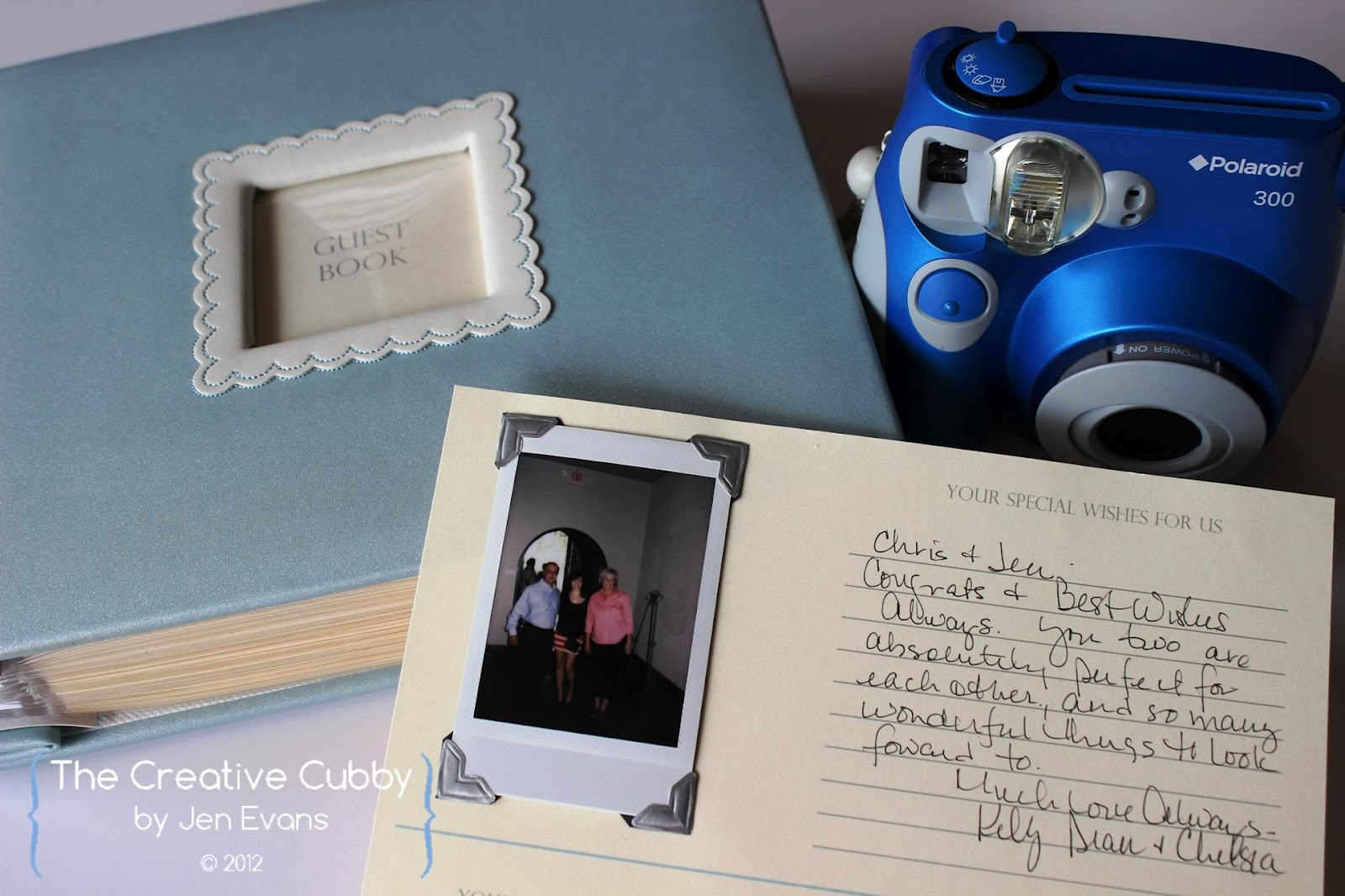 The creative cubby polaroid wedding guest book for Photo wedding guest book