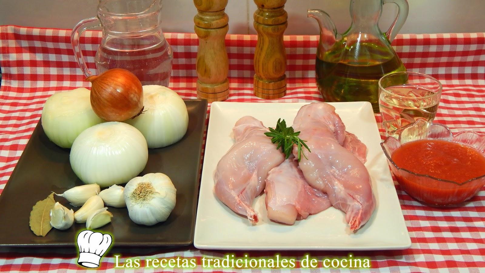Receta de Conejo encebollado al estilo Mallorquín