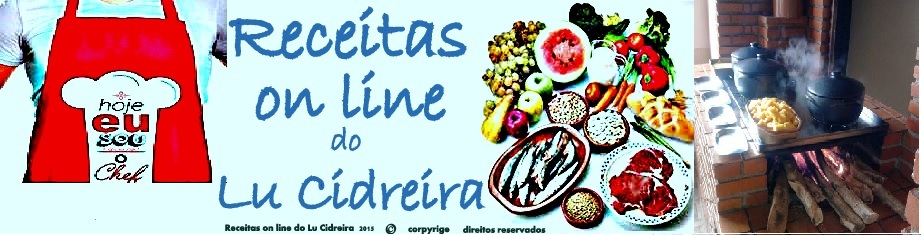 Receitas on line do Lu Cidreira