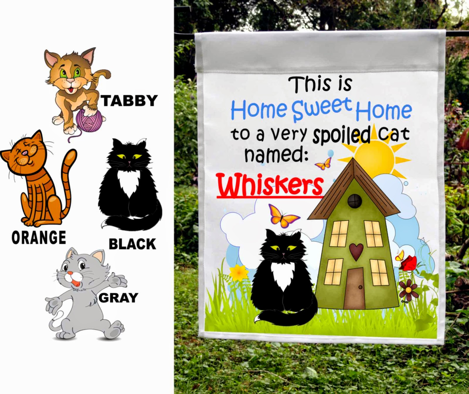 spoiled cat personalized custom flag