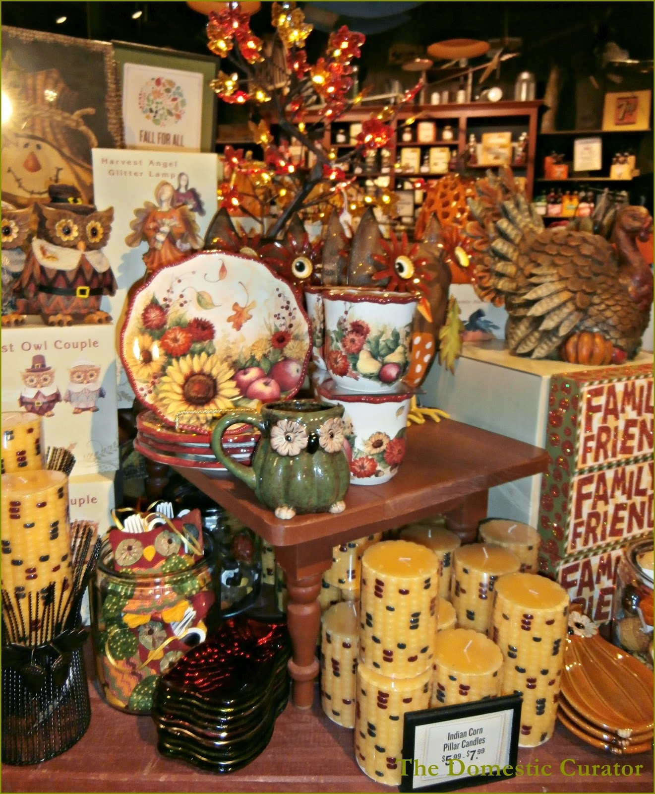 The Domestic Curator: Cracker Barrel Fall & Halloween Decor