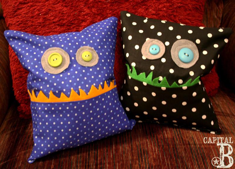 Cute Monster Pillow : Capital B: Adorable Little Monster Pillows