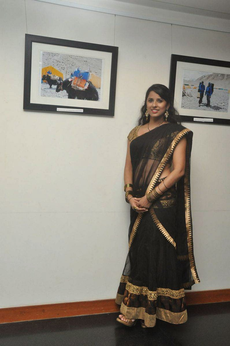Sravya Reddy In Black Half Saree