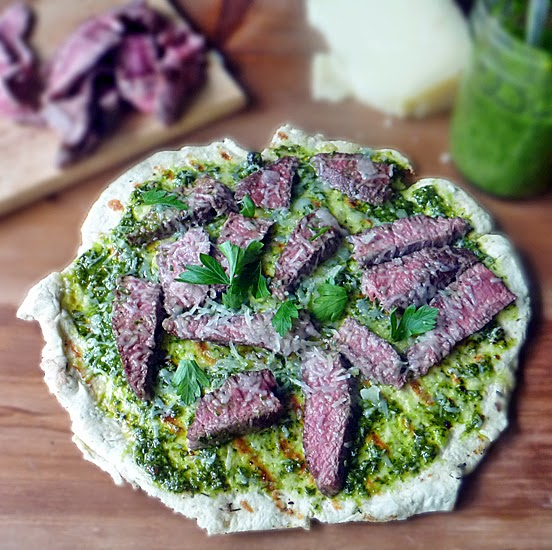 Grilled Steak Flatbread