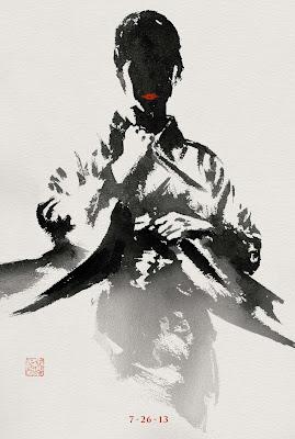 The Wolverine Sumi-e Character Movie Posters - Tao Okamoto as Mariko Yashida