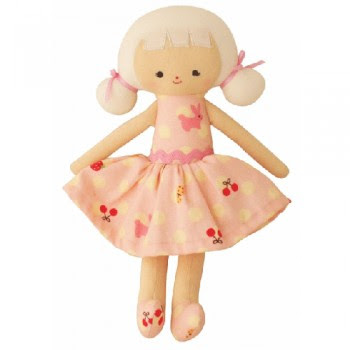 Alimrose designs audrey doll in pink bunny dress