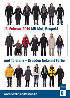 Menschenkette am 13. Februar 2014