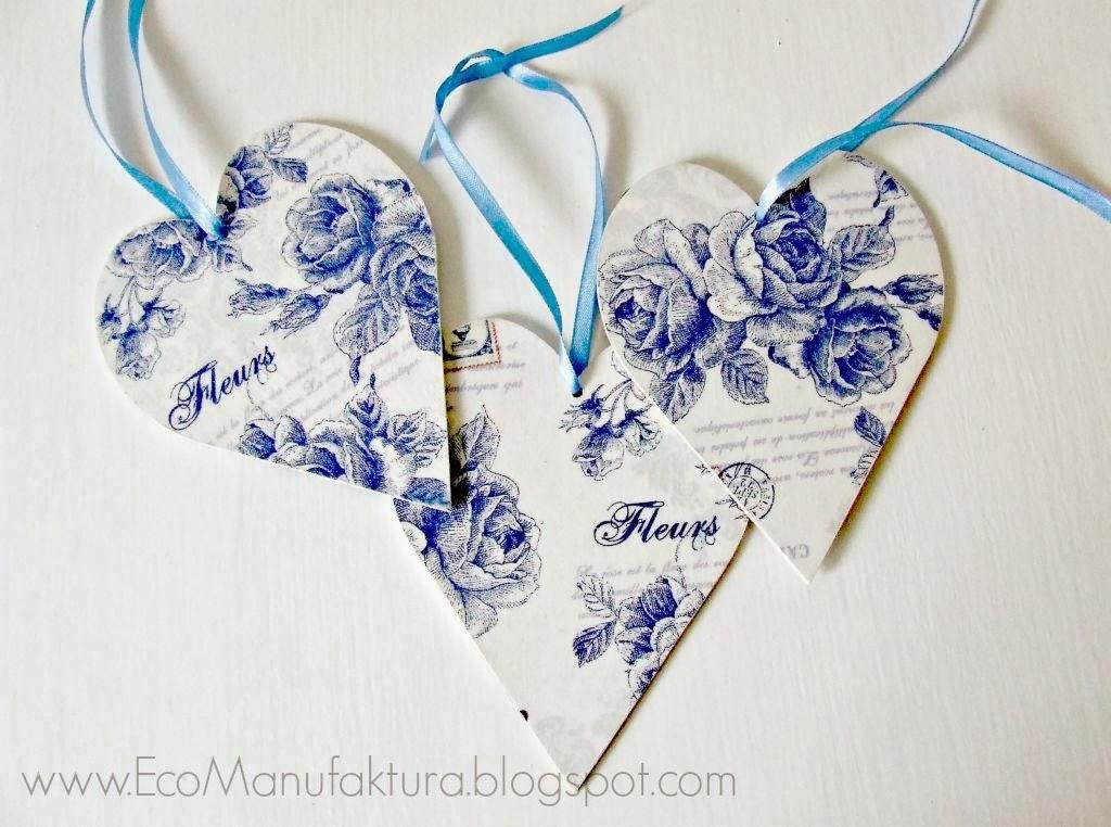 Piekna dekoracja walentynkowa hand made by Eco Manufaktura