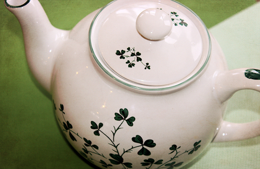 My Shamrock Teapot Top Photo by Tori Beveridge AHWT