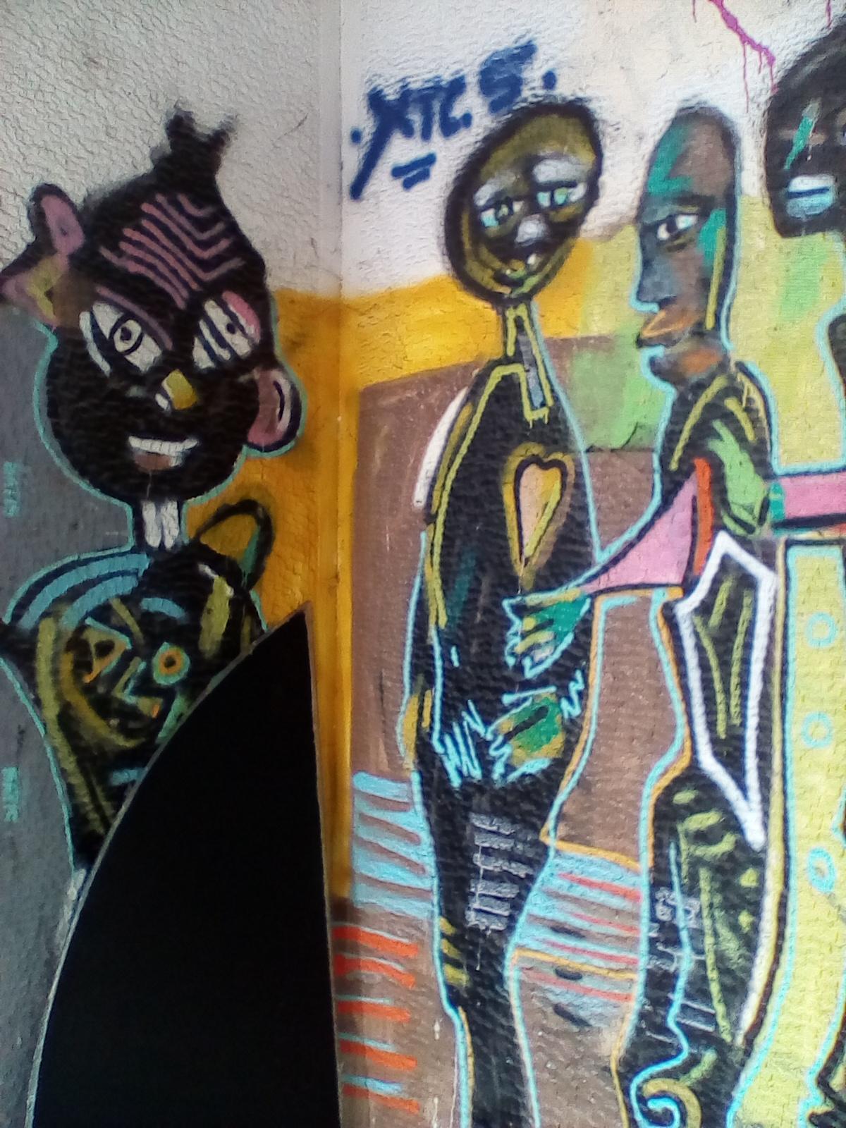 Νοσταλγικο γκράφιτυ που θυμίζει τέχνη του 1960
