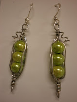 Check out these adorable Pea Earrings